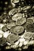 Week 41: B&W Wealth (redfaux011) Tags: photochallengeorg wealth coins duotone bokeh