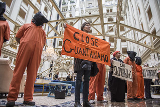 Anti-Torture Activists Hold a Demonstration Inside Trump International Hotel in Washington, DC