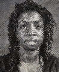 'Agnes, 1998' by Chuck Close (Greatest Paka Photography) Tags: museum agnesmartin chuckclose portrait grid cells artist media mosaic homage abstract sfmoma san francisco sanfrancisco