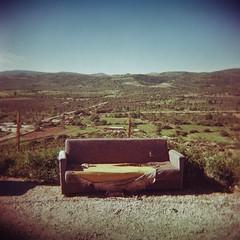 Behramkale couch (sonofwalrus) Tags: holga film lomo lomography scan turkey middleeast behramkale couch road furniture landscape