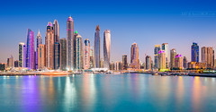 _MG_8969_web - Dubai Marina after sunset (AlexDROP) Tags: 2017 uae emirates dubai travel tower panoramic architecture color city urban light night scape bluehour canon6d ef16354lis best iconic famous mustsee picturesque postcard hdr ndfilter longexposure reflection