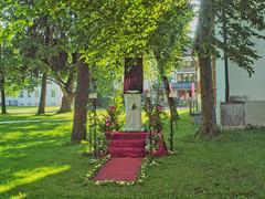 Traunreut Markt Strae (bratispixl) Tags: germany licht oberbayern altar schatten farben fronleichnam chiemgau lichtwechsel traunreut kirchliches stadtrundweg bratispixl belichtungsproben