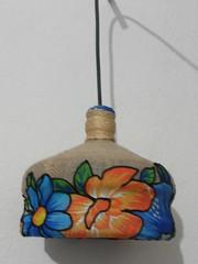 Luminaria (Ione logullo(www.brechodeideias.com)) Tags: flores luz luminaria juta chitão