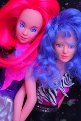BACK TO KCAB (Vuffy VonHoof) Tags: girls woman girl female vintage toys photography cool women doll neon dolls power good vibrant sassy pastel awesome bad band battle retro bands 80s jem 1980s period misfits holograms