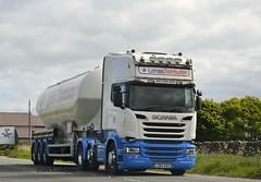 Scania R580,Lomas Distribution Ltd. (SJS Truck & Transport Photography.) Tags: transport vehicles trucks scania wagons logistics tankers commercials lorries haulage hgvs lomasdistributionltd bulkpowders