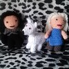 Amigurumi Jon Snow , Ghost and Daenerys