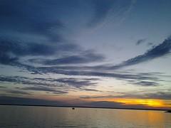 Sunset Buffalo New York June 13 2015 (ianulimac) Tags: new york blue sunset sky urban orange white lake weather clouds ian buffalo erie macdonald