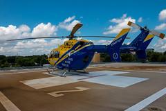 STARFlight (Joe Snowman) Tags: summer dedication austin texas unitedstates helicopter capitol airbus helipad atx starflight ec145 dellchildrensmedicalcenter canoneos70d kristinmclain