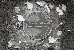 Catherine Eddowes (goodfella2459) Tags: city white black london history film cemetery analog 35mm jack nikon kodak tmax f65 crime catherine 400 whitechapel milf ripper eddowes