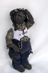 Stepanych, teddy bear, 23,5 cm. (Bayle.V.) Tags: bear toy bayle teddy helmet goggles teddybear mechanic pilot steampunk