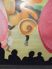 30th June 2015 (themostinept) Tags: carnival london mural colours dancers dancing audience patterns silhouettes parade tiles southwark se1 elephantandcastle elephantandcastlesubway