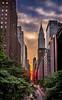ManhattanHenge (Marchelo13) Tags: light sunset sky sun newyork sunshine skyline clouds newyorkskyline manhattanskyline manhattanhenge manhatta newyorksunset