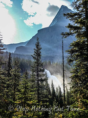 Hiking Back Down - Emperor Falls (Stop Nothing But Time) Tags: bridge camping lake berg forest river outdoors waterfall bacon hiking columbia hike adventure mount trail backpacking cedar backcountry robson british gregory campground osprey berglaketrail berglake whitehorn emperorfalls mtrobson mountainhardwear robsonriver