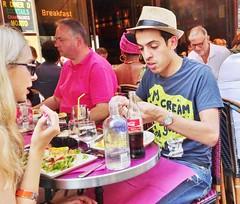 2015-07-18  Paris - Café Jade - 6 Rue de Buci (P.K. - Paris) Tags: street people paris café french terrace candid terrasse july sidewalk juillet 2015