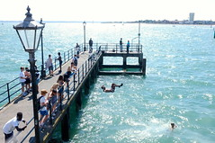 Diving off the jetty (Claire_Sambrook) Tags: fishing jetty diving solent portsmouth oldportsmouth calmwaters