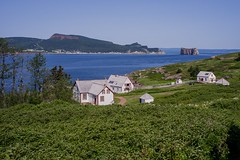 View from Bonadventure Island (claudeallaert) Tags: blue canada quebec perce gaspepeninsula gulfofsaintlawrence rocheperce smctakumar35mm35 bonadventureisland sonyilce7