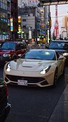 Typical Tokyo Traffic (motormouth_1993) Tags: auto cars car japan tokyo ferrari tokyotower gt coupe f12 v12 berlinetta carspotting ferrarif12 ferrarif12berlinetta f12berlinetta