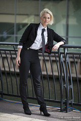 2015_07_30 Georgia W 053 WM (Sendall) Tags: portrait sexy london beautiful beauty fashion thames river gorgeous tie location blonde stunning editorial canarywharf androgyny whiteshirt androgynous isleofdogs boyfriendshirt