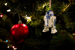 Day Sixty Nine (k.a.craig) Tags: starwars r2d2 r2 droid robot ornament christmas tree decoration lights celebration merry fun playful happy 365