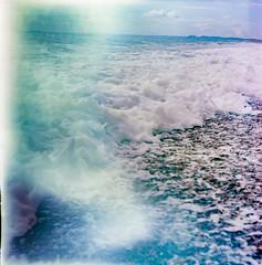 In the tide (sandrovonah) Tags: hasselblad500c hasselblad hasselblad500 hassi homedeveloped carlzeiss carlzeissplanar carlzeissplanar80mmf28 planar80mm planar80mmf28 kodak kodakektar kodakektar100 ektar ektar100 sea seafront beach stones pebbles wave waves lightleak unitedkingdom england filmfilmforever film 120film 120 chesilbeach dorset