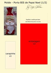 Molde Porta Bis de Papai Noel (Feito a mão [by Rafa]) Tags: feltro fieltro felt rafagibrim fofo cute enfeite presente lembrança artesanato natal portabis papainoel molde