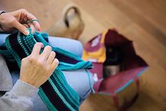 Multi-tasking... (~ cynthiak ~) Tags: 365 365days 3652017 january january2017 19365 img3826 multitasking crochet afghan onerowaday temperatureafghan odin explored