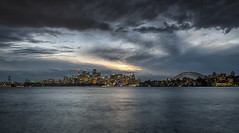 Sydney Sunset (Tracey Whitefoot) Tags: tracey whitefoot 2016 sydney australia city skyline opera house harbour bridge skyscrapers long exposure dusk sunset cremorne point nsw