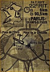 1977 TDF Stage 22A/B TT/Paris Champs-Elysées (Sallanches 1964) Tags: tourdefrance 1977 roadplan roadmap bikerace roadcriterium