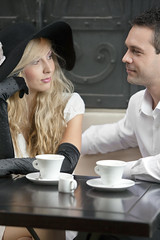 Young couple portrait (engvnnet) Tags: adult affectionate beautiful blond casual caucasian cheerful couple cute dating enjoyment expressing female fun girl happiness happy hat heterosexual husband inlove joy love lovers man passion people portrait posing romance smiling togetherness two white wife woman women young youth coffee cup mug black table