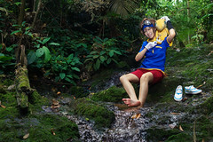 Taichi (bdrc) Tags: asdgraphy yagami taichi digimon jungle forest cosplay girl portrait kaori lala strobe godox river stream bukit gasing nature park trees green outdoor sony a6000 sigma 30mm prime crossplay