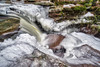 Top of Adams Falls, 2017.01.14 (Aaron Glenn Campbell) Tags: rgsp rickettsglen statepark fairmounttownship luzernecounty pennsylvania kitchencreek evergreentrail adamsfalls pawaterfalls lichen moss ferns outdoors optoutside winter snow ice water longexposure 3xp ±2ev hdr macphun aurorahdr2017 nikcollection colorefexpro viveza sony a6000 ilce6000 mirrorless rokinon 12mmf2ncscs wideangle primelens manualfocus emount