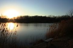 Fairfield Lake (evanrynearson) Tags: bench lake indiana