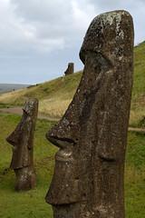 Moai at Rano Raraku (casik) Tags: chile easterisland isladepascua rapanui moai ranoraraku