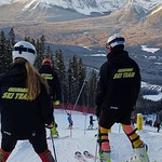 The Okanagan Ski Team inspecting at Lake Louise, Jan 2017 PHOTO CREDIT: Catherine Martin