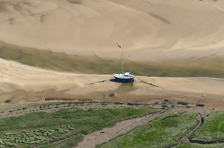 High & dry at Wells - aerial image