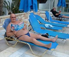 Sunbathing by the Mythos Pool (pj's memories) Tags: pool briefs speedos bulge tanthru kiniki