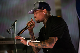 Chris Brown performs at the iHeartRadio Summer Pool Party | Photo by Andrew Swartz for iHeartRadio