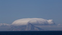 Gibraltar, clouds/wind (Jos Rambaud) Tags: sea cloud mountains weather rock clouds landscape wind cloudy nubes gibraltar cloudscape montaas levante straitofgibraltar estrechodegibraltar orografia