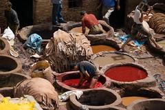 150607121942 (a krambrich) Tags: travel leather work morocco fez medina marokko fes tannery fs chouara