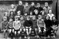 Kempsford, Fairford (theirhistory) Tags: uk school girls england boys socks shirt kids bench children photo shoes dress skirt class junior gb jumper shorts form wellies primary rubberboots jacker