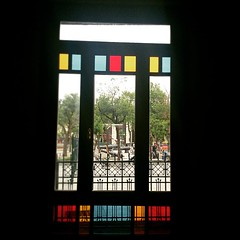 #istanbul #Beikta #iskelesi #skdar #window (t.bo79) Tags: blue red tree rot window colors yellow ferry turkey colorful view fenster trkiye istanbul trkei gelb colored blau baum glas bunt skdar beikta ferryport iskelesi instagram ifttt