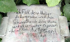 Lyrik (erix!) Tags: leaves poem smear filth gedicht cursing swearing schmiererei