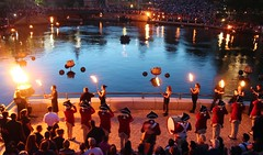 Torches at the Basin