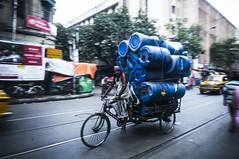 Manpower (southerncrj) Tags: street india panning kolkata