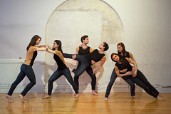Three Dancers (Marty Gottlieb Photography) Tags: portrait people ballet fashion composite modern dancers surreal multiplicity clone selfie