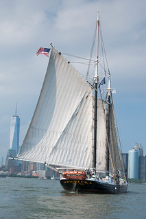 'Pioneer' in NY Harbor on a Saturday evening