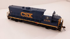 CSX - MATE (Road Slug) #2230 Dark Future Paint Scheme - Former GP35 (Engineer Front 3-4 Overhead) - HO Scale - KATO kit-bash - July 29, 2015 - K. Crawley (dcmkris) Tags: atlas csx hoscale gp402 custompainted darkfuture roadslug mothermate