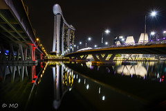 MBS (mathieuo1) Tags: marina singapore le longexposure night illumination town city asia country nikon dlsr water reflection reflexion bridge mbs architecture light modern urban street under panorama wide convergence lines symmetry asian art mathieuo d800 explore travel cityscape scape