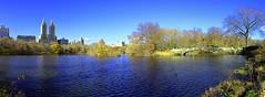 Central Park Lake Panoramic. (yourusacityguide.com) Tags: neyyork nyc centralpark hugin sun winter park lake bridge bowbridge panoramic