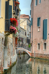 Quiet Scenes (Nola Nate) Tags: venice italy europe water canal building flowers reflection ibeauty